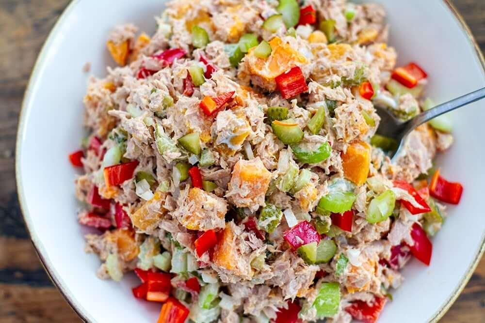 ton balıklı ve kayısılı salata